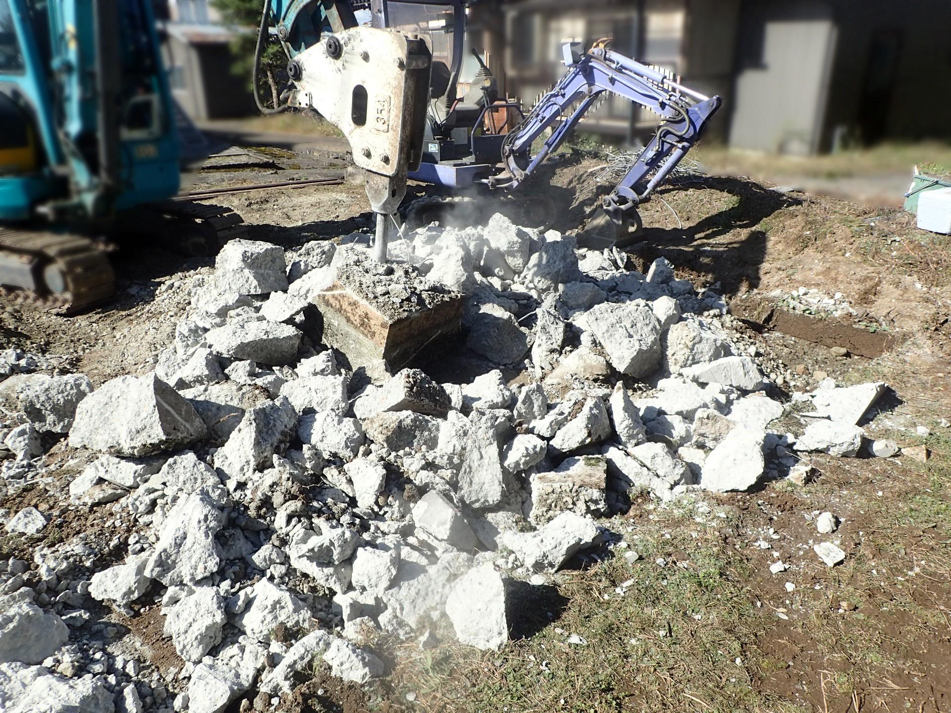 墓所移設基礎解体