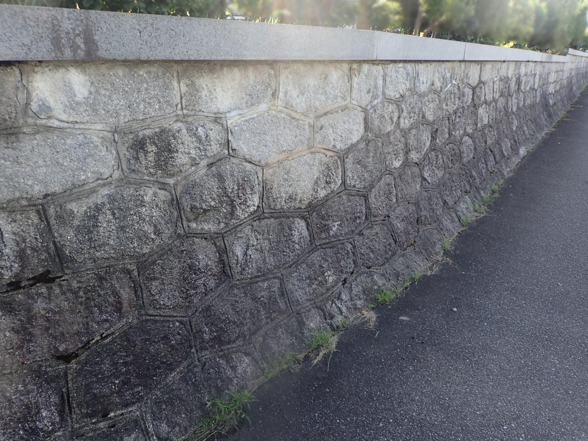 石塀 クリーニング前