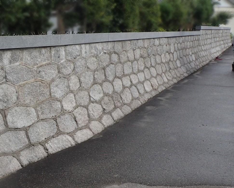 石塀 クリーニング後