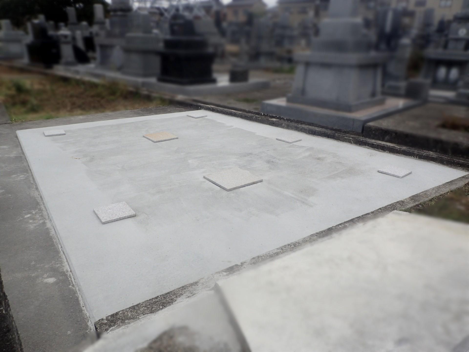 墓地 基礎工事完成