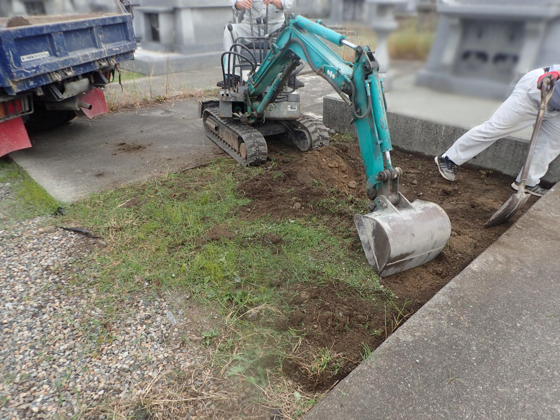 墓新築基礎工事