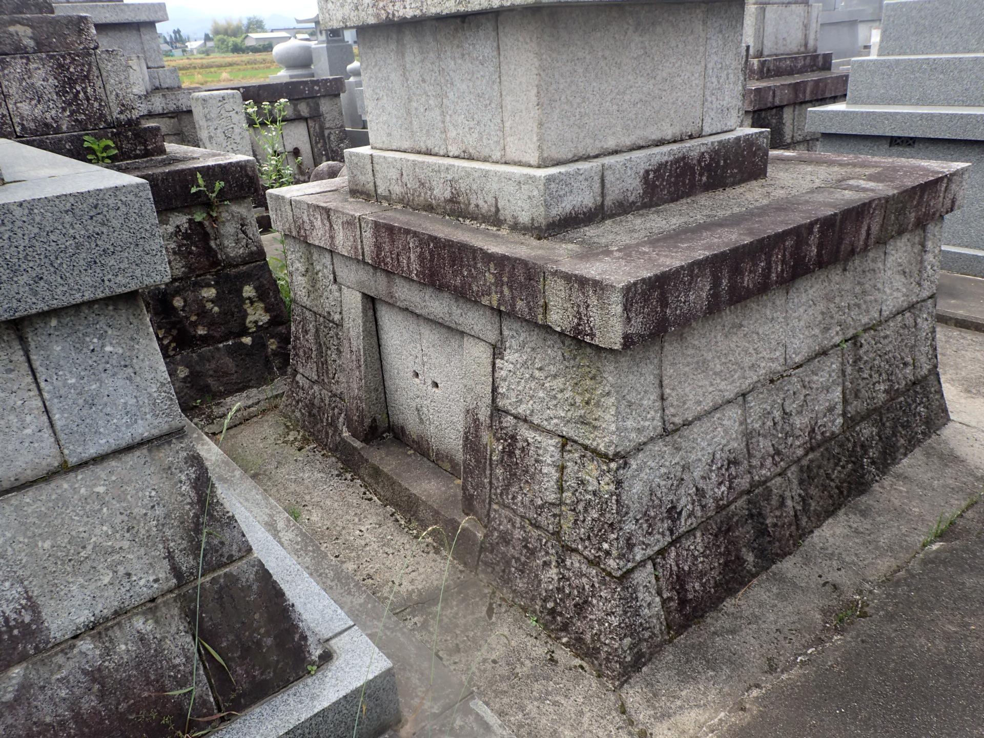 墓修復前 後ろ側